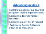 advisering in klas 2