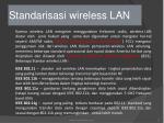 standarisasi wireless lan