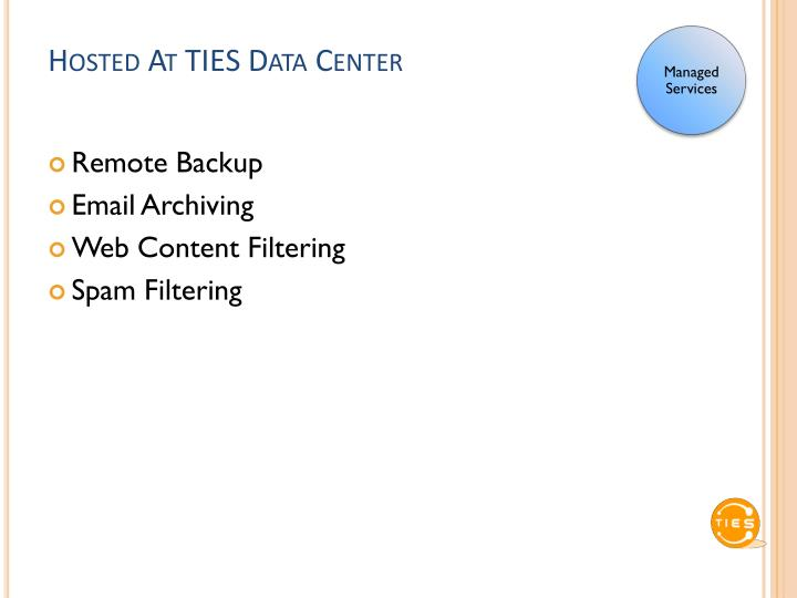 Hosted At TIES Data Center