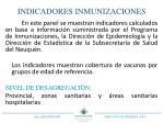 indicadores inmunizaciones
