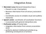 integrative areas