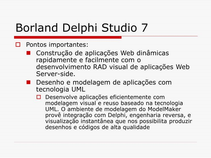 Borland Delphi Studio 7