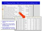 svt mapping study data required for re building costs