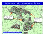 svt mapping study locations of sample sites