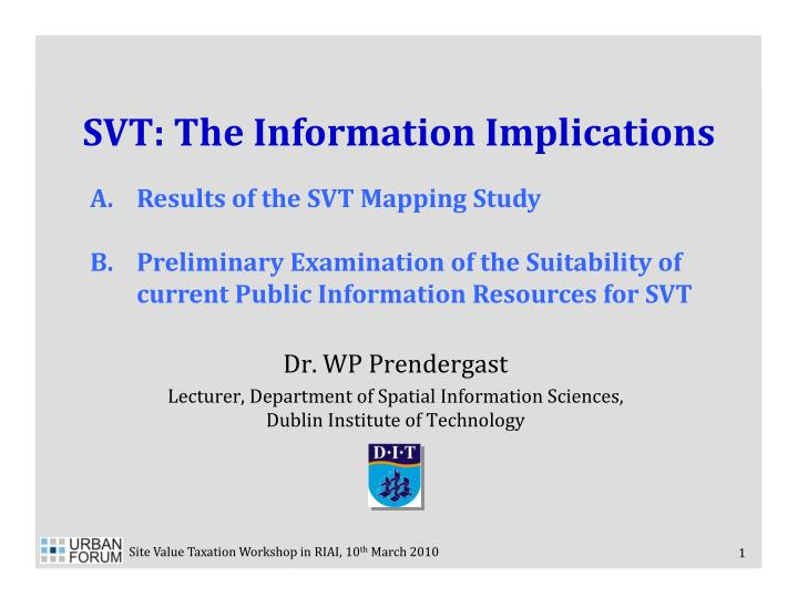 svt the information implications n.