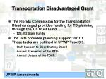 transportation disadvantaged grant