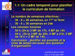 1 1 un cadre temporel pour planifier le curriculum de formation