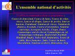 l ensemble national d activit s