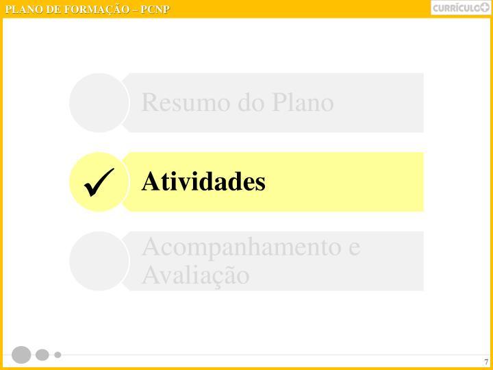 PLANO DE FORMAÇÃO – PCNP