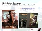 distributed jazz jam montreal stanford ccrma research demo oct 24 2002