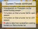 current trends continued
