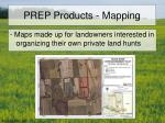 prep products mapping