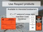 use respect products