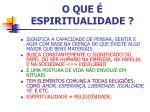 o que espiritualidade