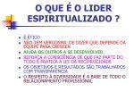 o que o lider espiritualizado