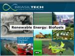 renewable energy biofuels