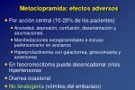 metoclopramida efectos adversos