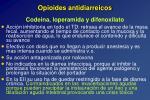 opioides antidiarreicos