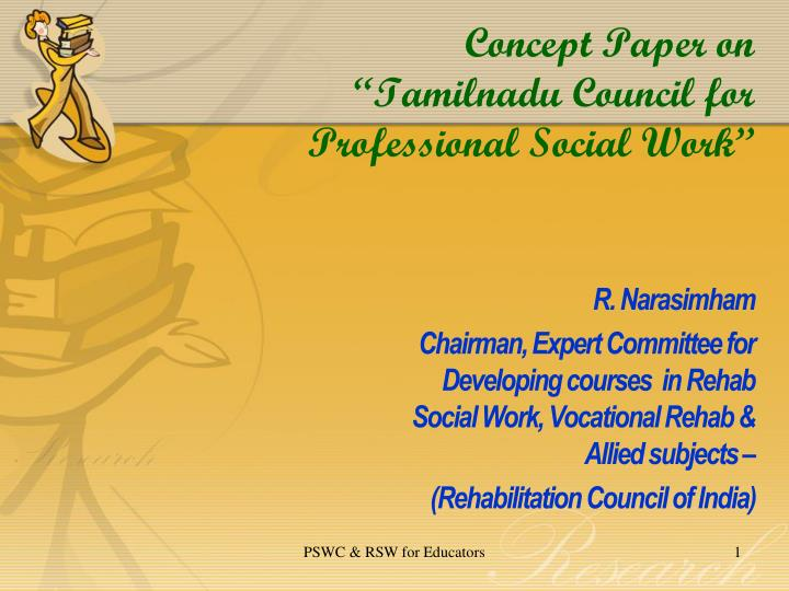 concept paper on tamilnadu council for professional social work n.