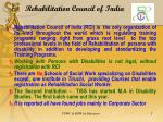 rehabilitation council of india