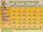 status of social work professionals
