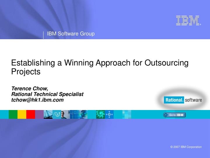establishing a winning approach for outsourcing projects n.
