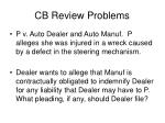 cb review problems