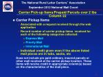 carrier pick up items prepaid parcels over 2 lbs column 22