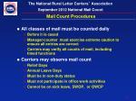 mail count procedures