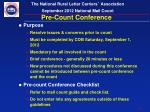 pre count conference