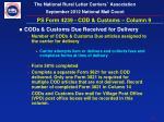 ps form 4239 cod customs column 9
