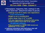 ps form 4239 flats column 4