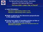 ps form 4239 letter flat or parcel