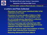 ps form 4239 letters flats collected column 20