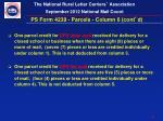 ps form 4239 parcels column 6 cont d2