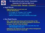 ps form 4239 parcels column 6