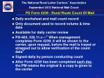 ps form 4239 rural route count of mail