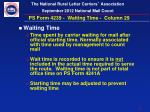 ps form 4239 waiting time column 29
