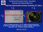 rigid item inside flexible mail piece riverside ca step 4