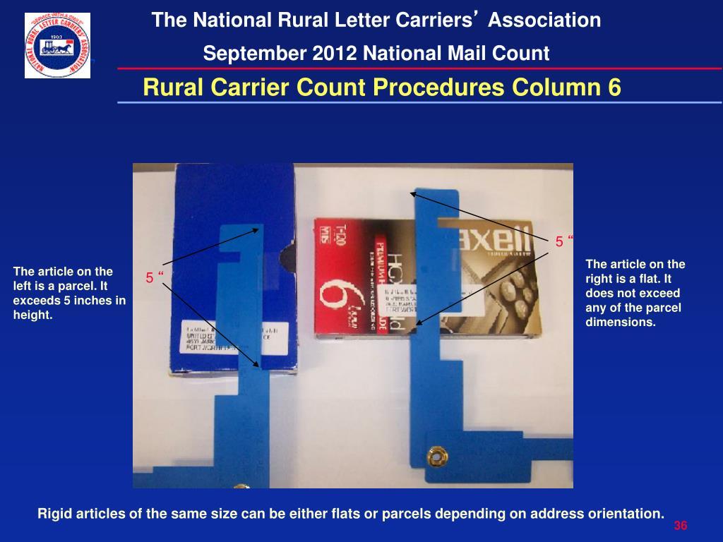 PPT - NATIONAL RURAL LETTER CARRIERS ' ASSOCIATION SEPTEMBER