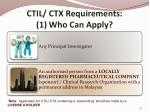 ctil ctx requirements 1 who can apply