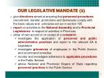 our legislative mandate 3