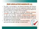 our legislative mandate 4