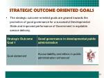strategic outcome oriented goals