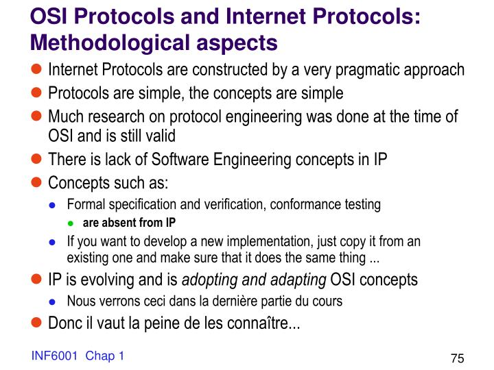 OSI Protocols and Internet Protocols: