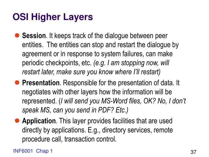 OSI Higher Layers