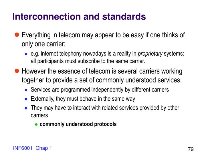 Interconnection and standards