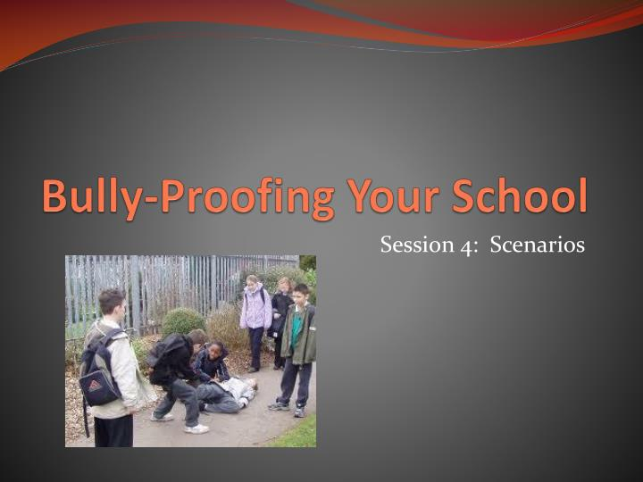 bully proofing your school n.