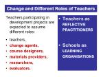 change and different roles of teachers