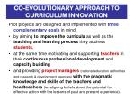 co evolutionary approach to curriculum innovation